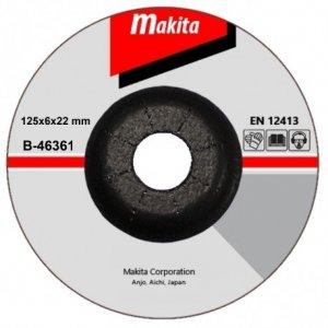 Brusný kotouč 125x6x22mm na nerez Makita B-46361