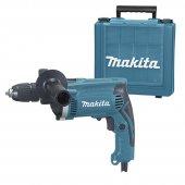 Příklepová vrtačka + kufr a rychlosklíčidlo Makita HP1631K