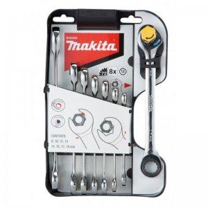 Sada očkoplochých ráčnových klíčů 8 ks Makita B-65523