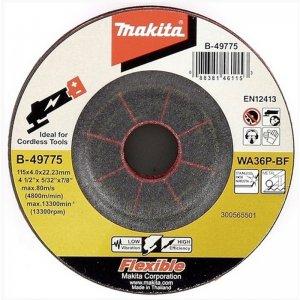 Pružný brusný kotouč 115x4x22mm nerez Makita B-49775
