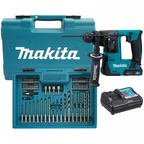 Aku vrtací kladivo s příslušenstvím 2x12V/1,5Ah Makita HR140DWYE1